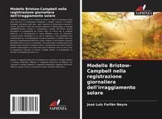 Portada del libro de Modello Bristow-Campbell nella registrazione giornaliera dell'irraggiamento solare