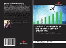 Bookcover of Empirical verification of the finance-economic growth link