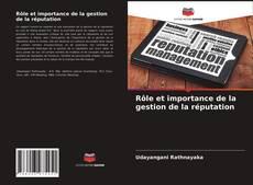 Portada del libro de Rôle et importance de la gestion de la réputation