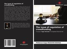 Buchcover von The issue of regulation of crowdfunding