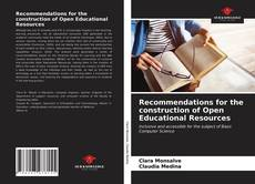 Copertina di Recommendations for the construction of Open Educational Resources