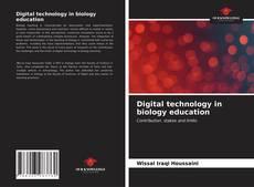 Couverture de Digital technology in biology education