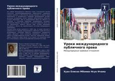 Уроки международного публичного права的封面