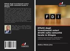 Portada del libro de Effetti degli investimenti esteri diretti sulla comunità locale in Etiopia
