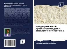Предварительный проект производства сывороточного протеина kitap kapağı