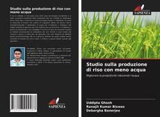 Capa do livro de Studio sulla produzione di riso con meno acqua