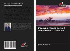 Buchcover von L'acqua africana sotto il cambiamento climatico