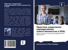 Portada del libro de Практика управления корпоративной ответственностью в ESAL