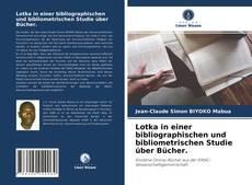 Обложка Lotka in einer bibliographischen und bibliometrischen Studie über Bücher.