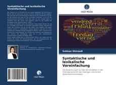 Syntaktische und lexikalische Vereinfachung kitap kapağı