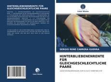 Bookcover of HINTERBLIEBENENRENTE FÜR GLEICHGESCHLECHTLICHE PAARE