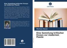 Copertina di Eine Sammlung kritischer Essays zur modernen Poesie