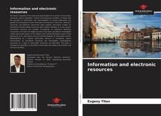 Borítókép a  Information and electronic resources - hoz