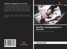 Borítókép a  Quality management in service - hoz