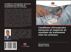 Portada del libro de Conditions chirurgicales mineures et majeures et résultats du traitement chez les animaux