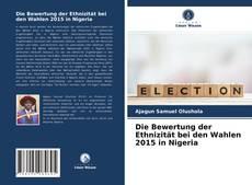 Die Bewertung der Ethnizität bei den Wahlen 2015 in Nigeria kitap kapağı