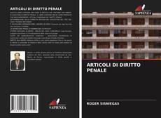 Bookcover of ARTICOLI DI DIRITTO PENALE