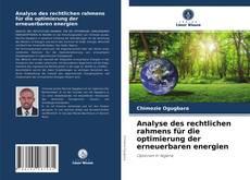 Borítókép a  Analyse des rechtlichen rahmens für die optimierung der erneuerbaren energien - hoz