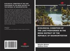 Bookcover of ECOLOGICAL CONDITION OF THE LAKE PODVORNOE IN THE BIRSK DISTRICT OF THE REPUBLIC OF BASHKORTOSTAN