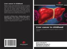 Bookcover of Liver cancer in childhood