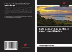 Bookcover of Safe deposit box contract under Mauritian law