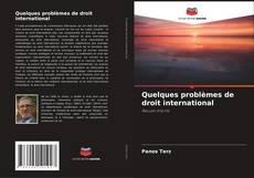 Bookcover of Quelques problèmes de droit international