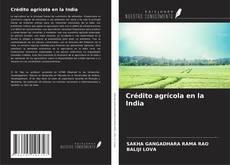 Portada del libro de Crédito agrícola en la India