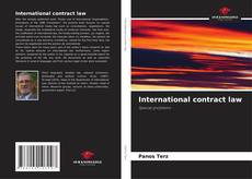 Bookcover of International contract law