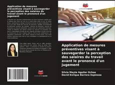 Bookcover of Application de mesures préventives visant à sauvegarder la perception des salaires du travail avant le prononcé d'un jugement