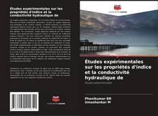 Couverture de Études expérimentales sur les propriétés d'indice et la conductivité hydraulique de