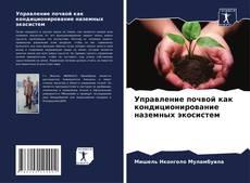 Portada del libro de Управление почвой как кондиционирование наземных экосистем