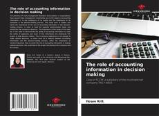 Обложка The role of accounting information in decision making