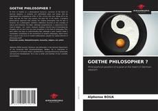 Buchcover von GOETHE PHILOSOPHER ?