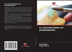 Portada del libro de La caractérisation en prosthodontie