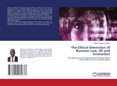 Portada del libro de The Ethical dimension of Business Law, SD and Innovation