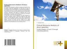 Buchcover von Critical Discourse Analysis of Jesus speeches
