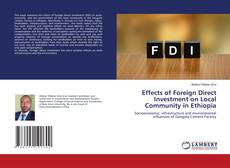 Portada del libro de Effects of Foreign Direct Investment on Local Community in Ethiopia