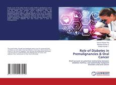 Bookcover of Role of Diabetes in Premalignancies & Oral Cancer