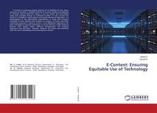E-Content: Ensuring Equitable Use of Technology kitap kapağı