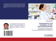 Bookcover of Development and Validation of UV-Spectrophotometric
