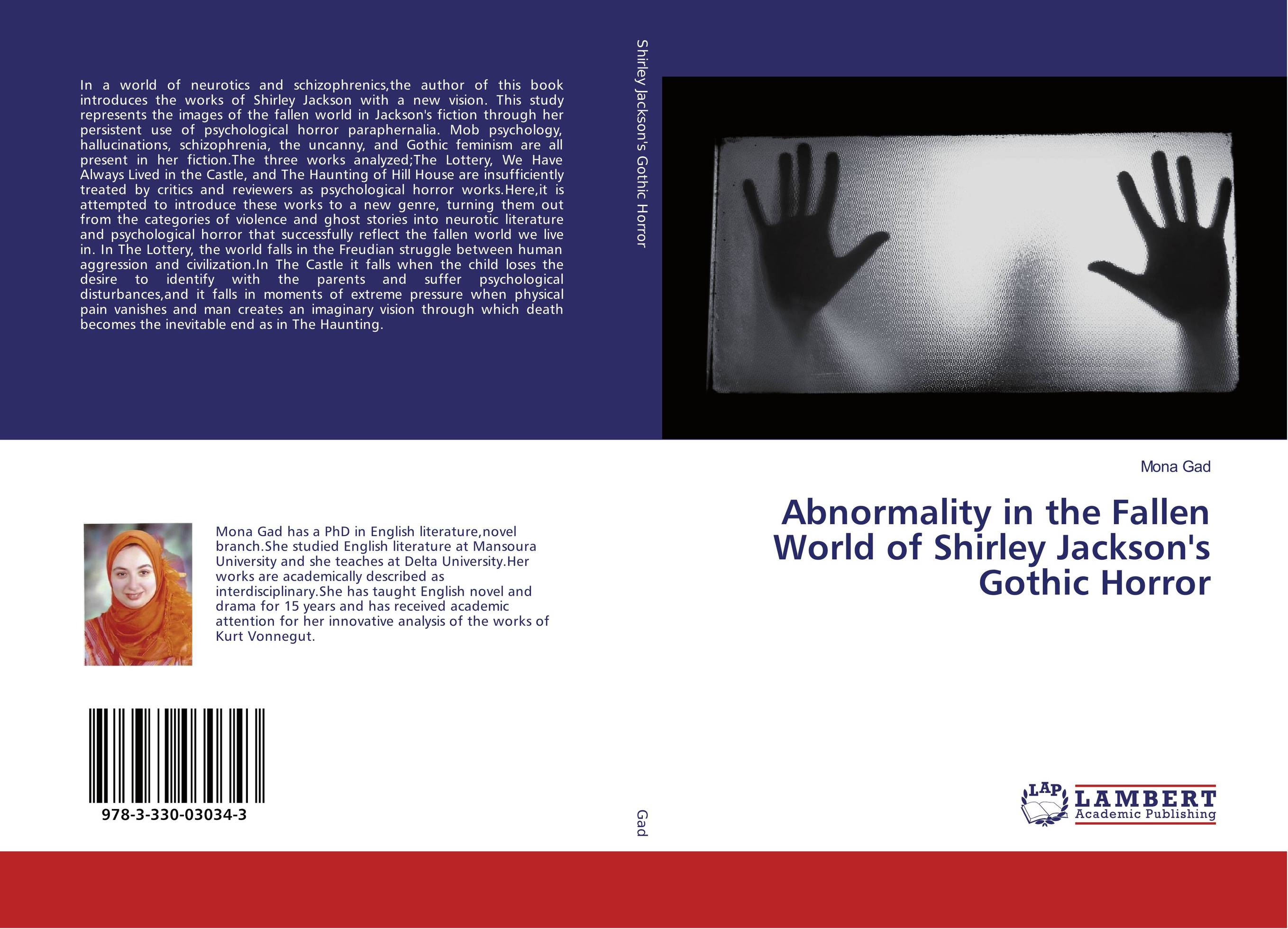 9783330030343 Abnormality in the Fallen World of Shirley JacksonGothic Horror
