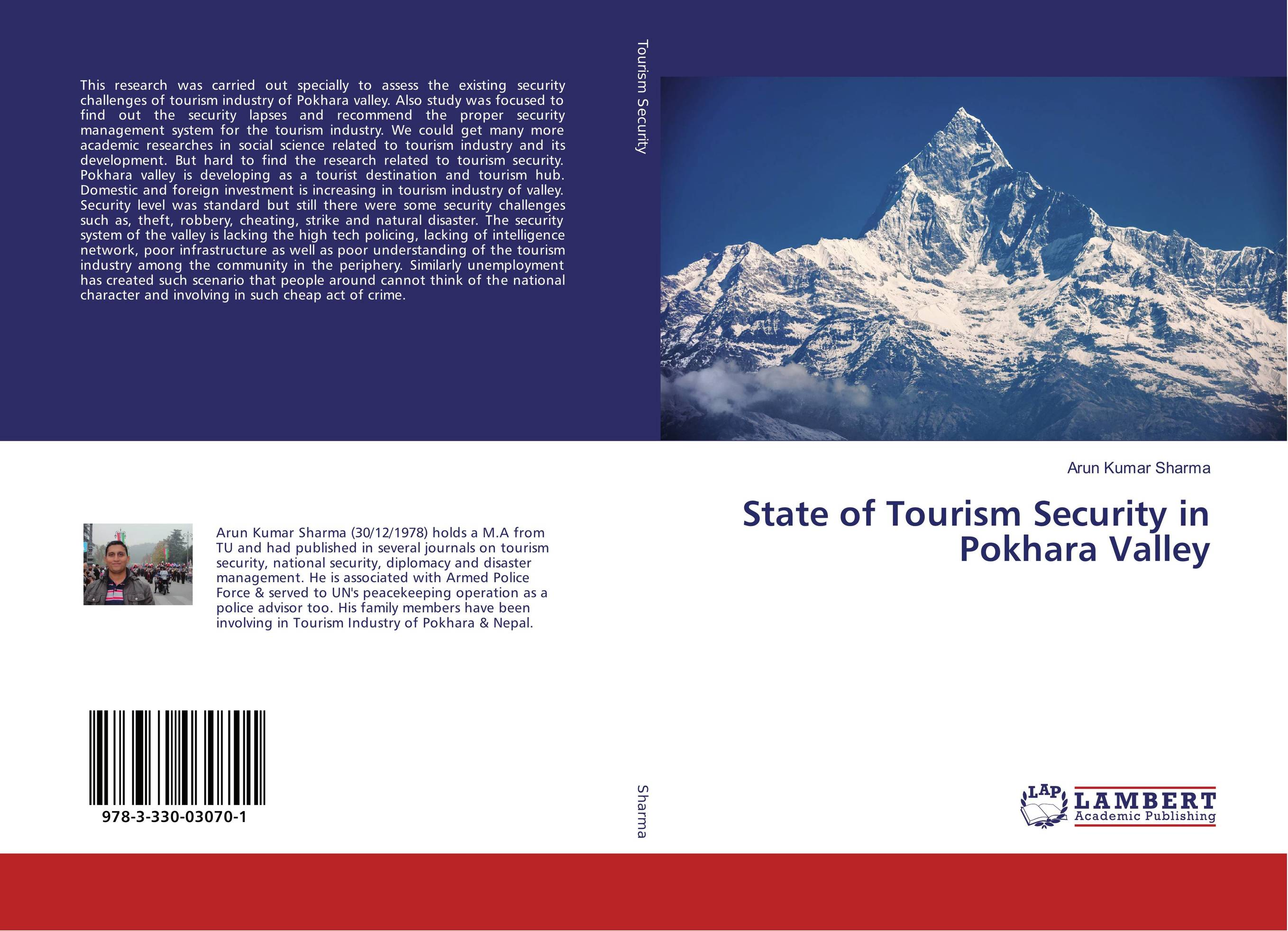 9783330030701 State of Tourism Security in Pokhara Valley Arun Kumar Sharma