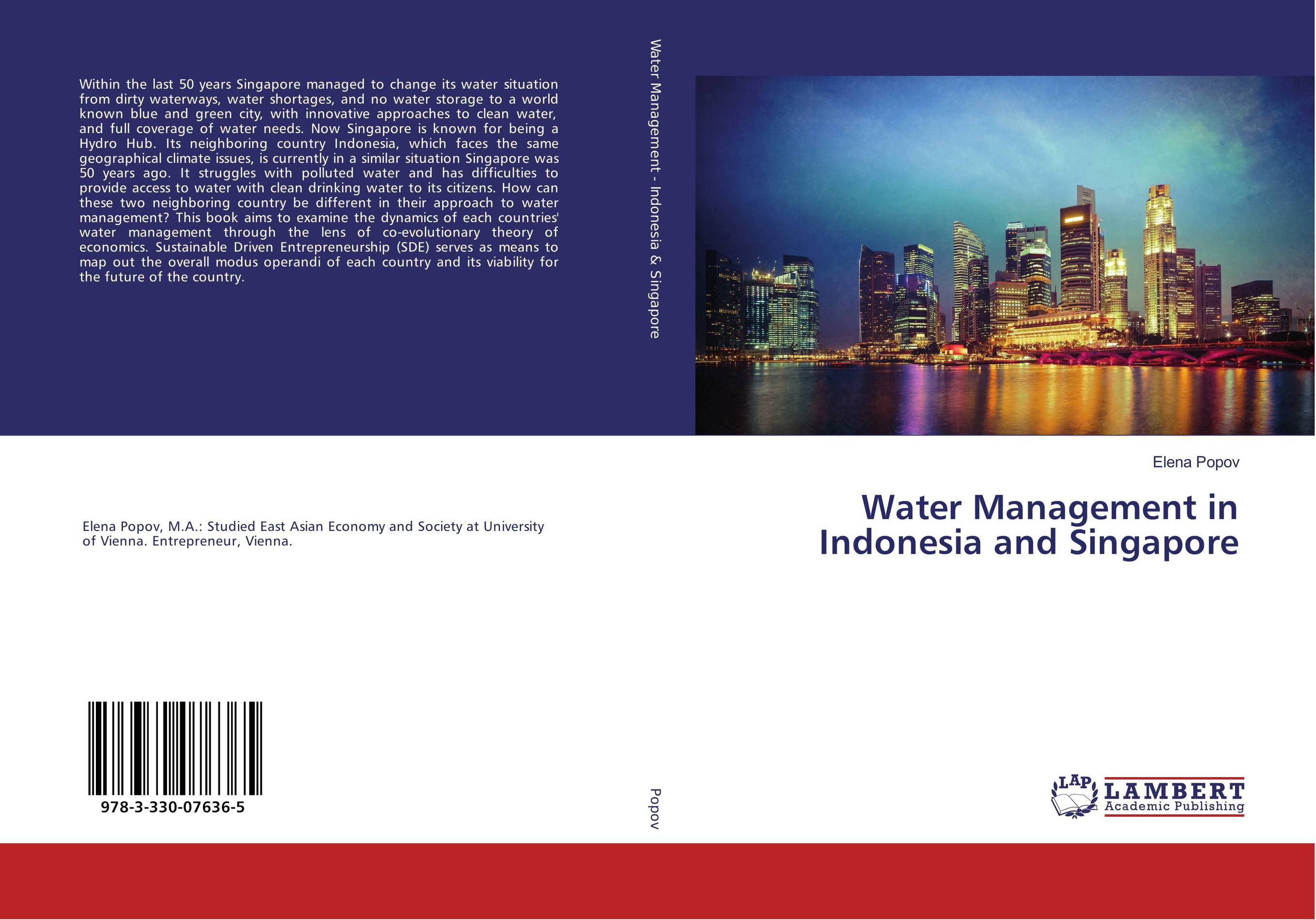 9783330076365 Water Management in Indonesia and Singapore Elena Popov