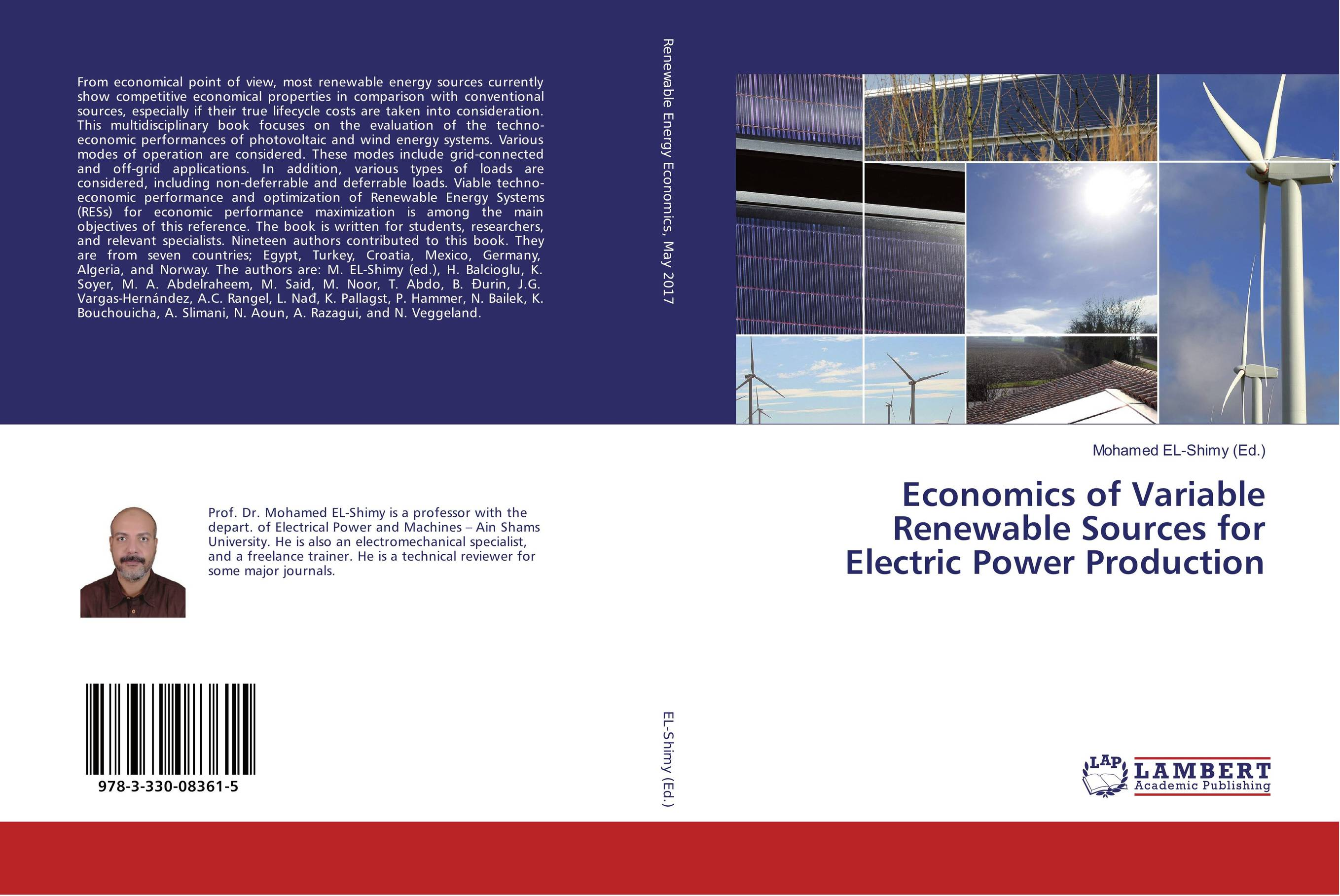 9783330083615 Economics of Variable Renewable Sources for Electrer Production