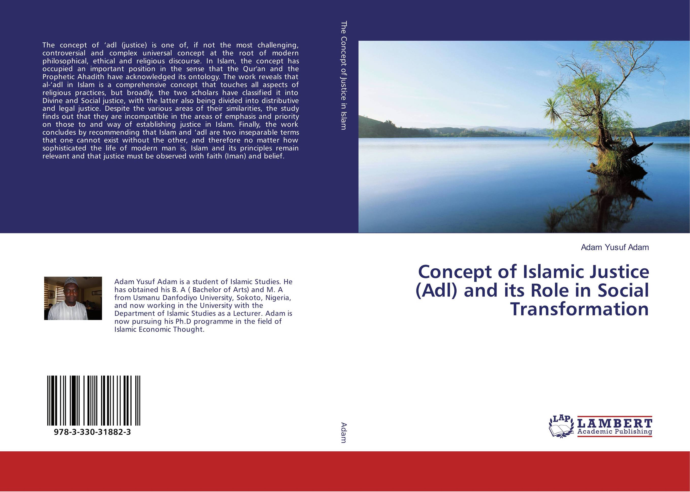 9783330318823 Concept of Islamic Justice Adl and its Role in Sransformation