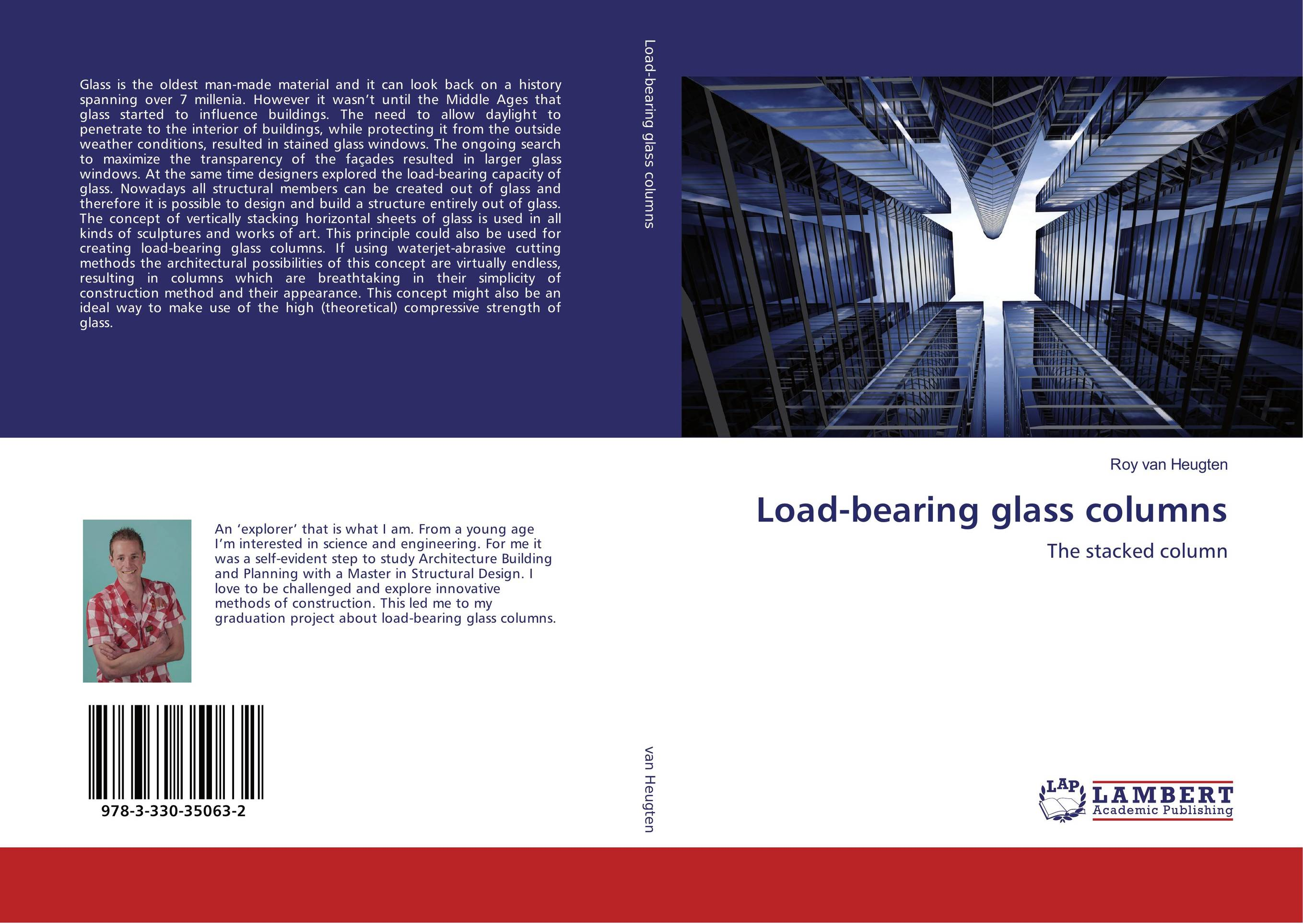 9783330350632 Loadbearing glass columns Roy van Heugten
