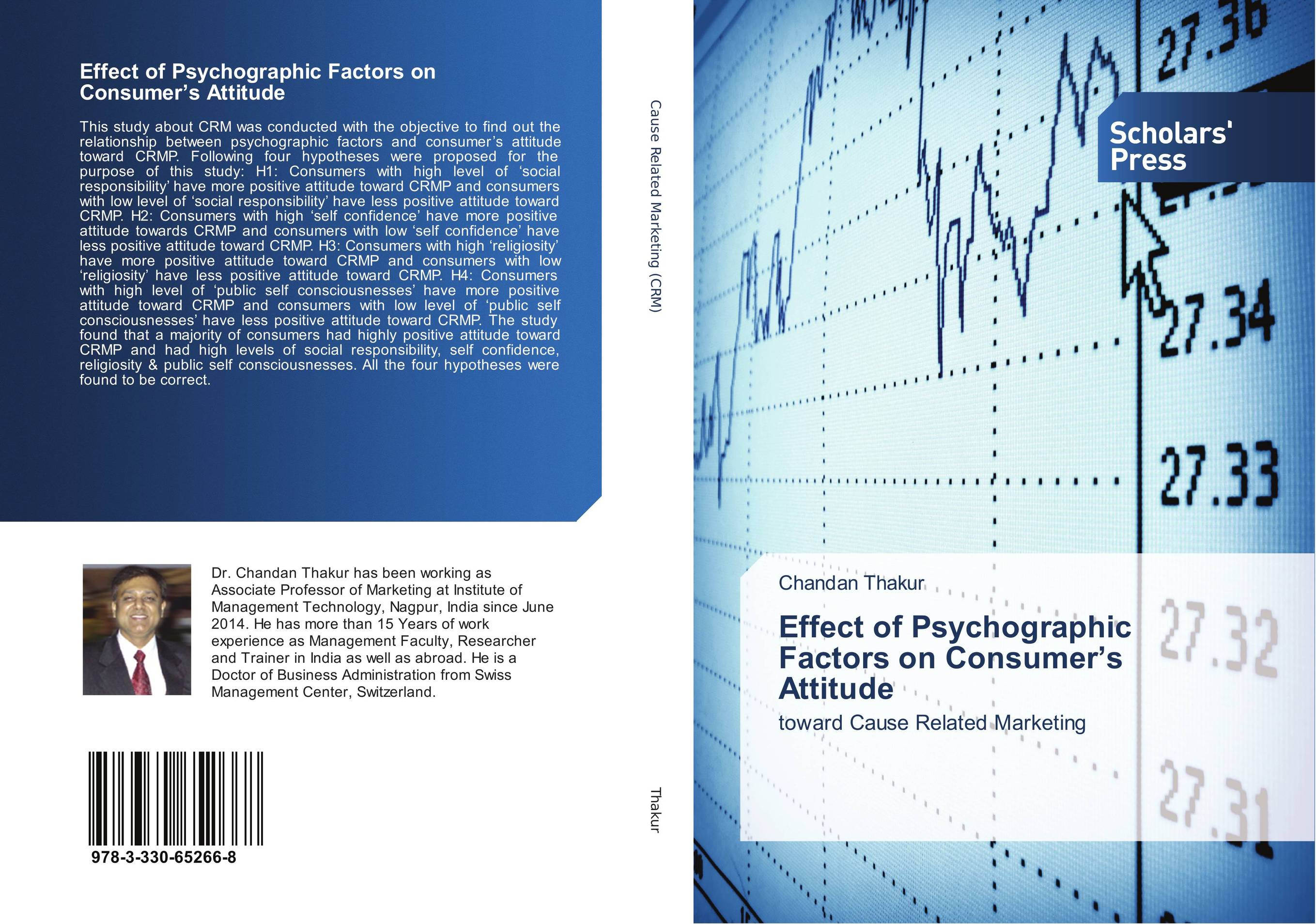 9783330652668 Effect of Psychographic Factors on Consumer's Attitude Chandan T