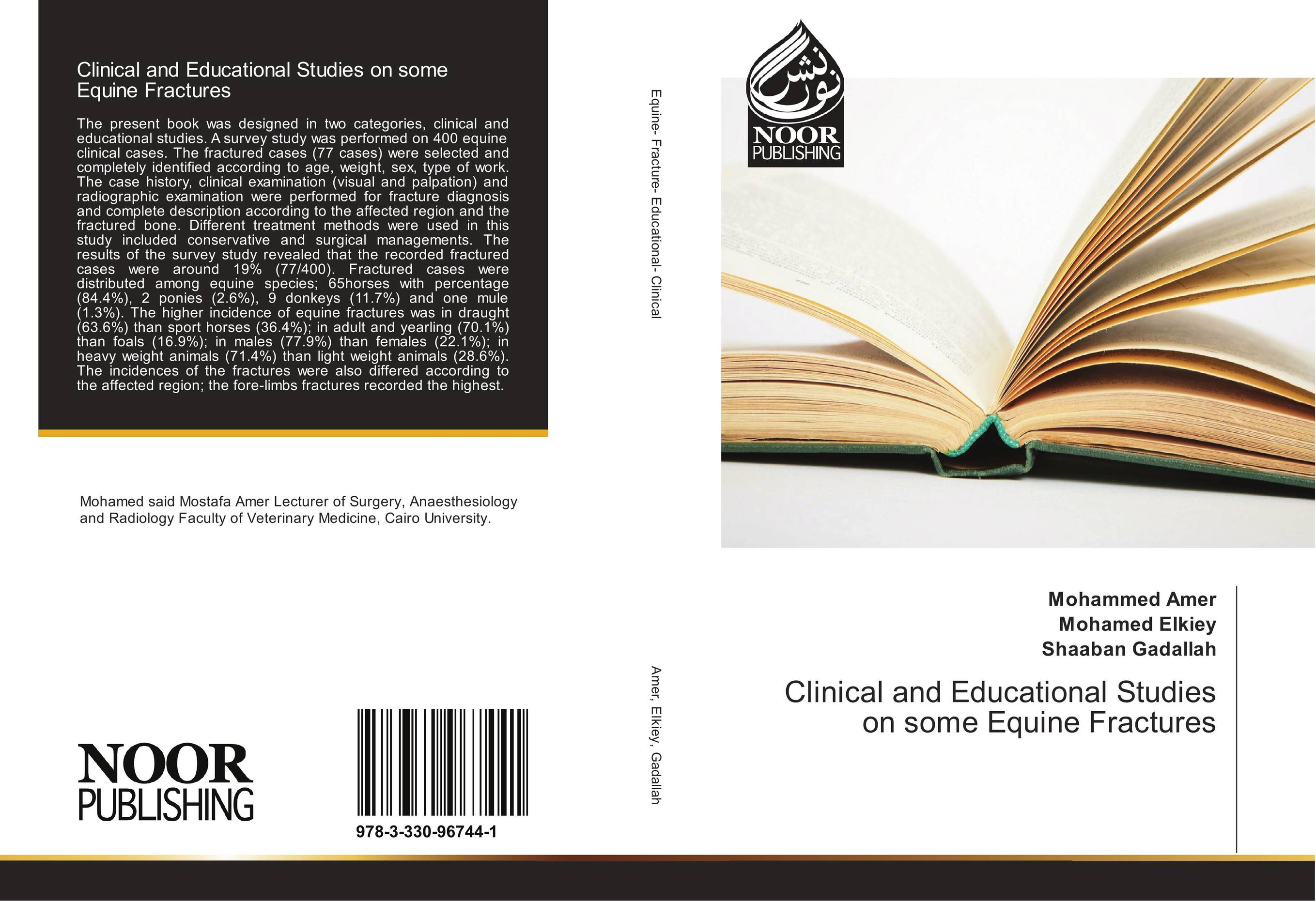 9783330967441 Clinical and Educational Studies on some Equine Fractures Mohamm