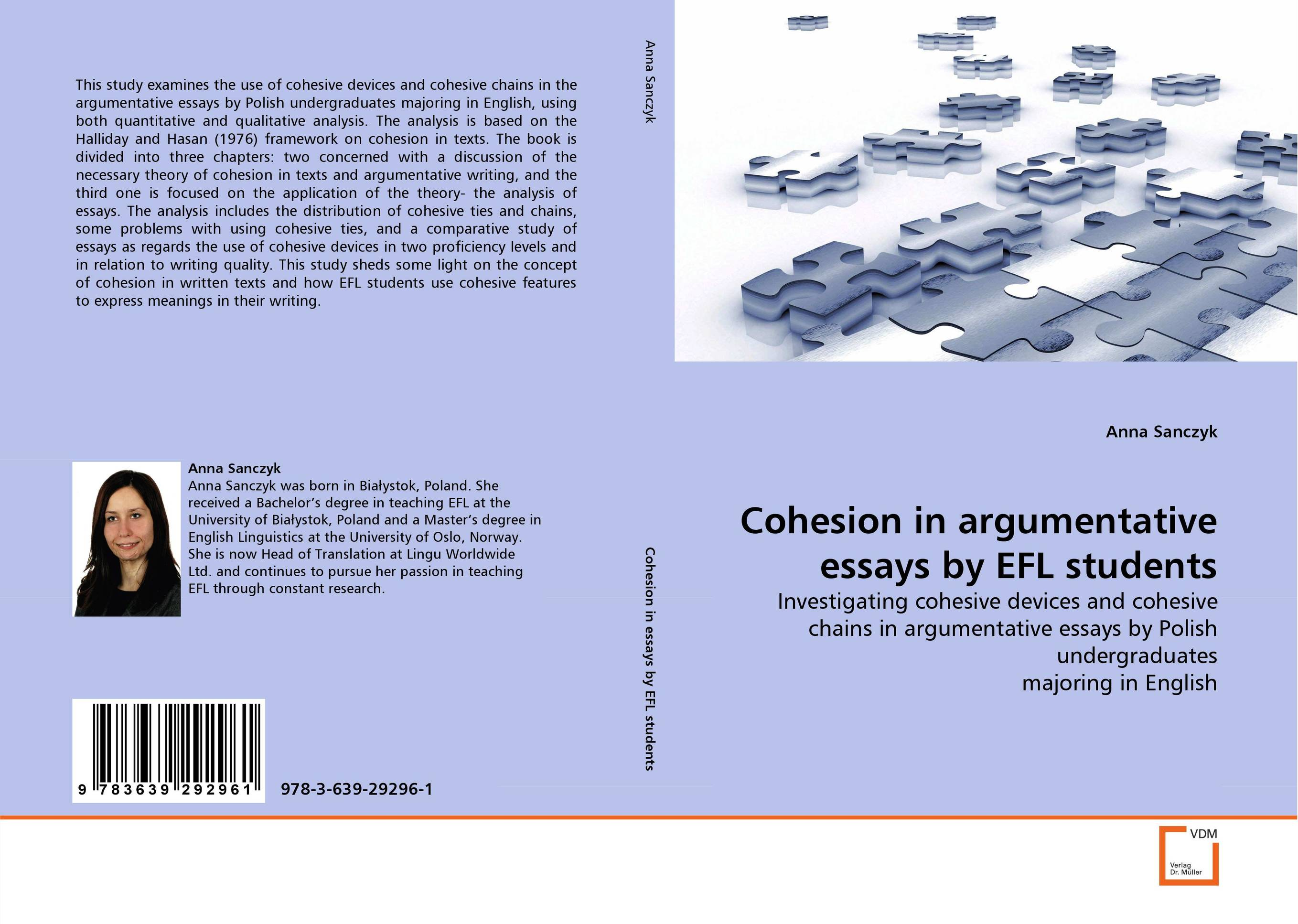 halliday and hasans cohesion in english english language essay Although halliday and hasan (1976) did not consider issues of language pedagogy in their research , carrell text cohesion in writing instruction and research in english discus sions of uses of th e explic it cohesion mar ker s of each typ e in l i and l2 essays were counted sepa rate ly to obtain.