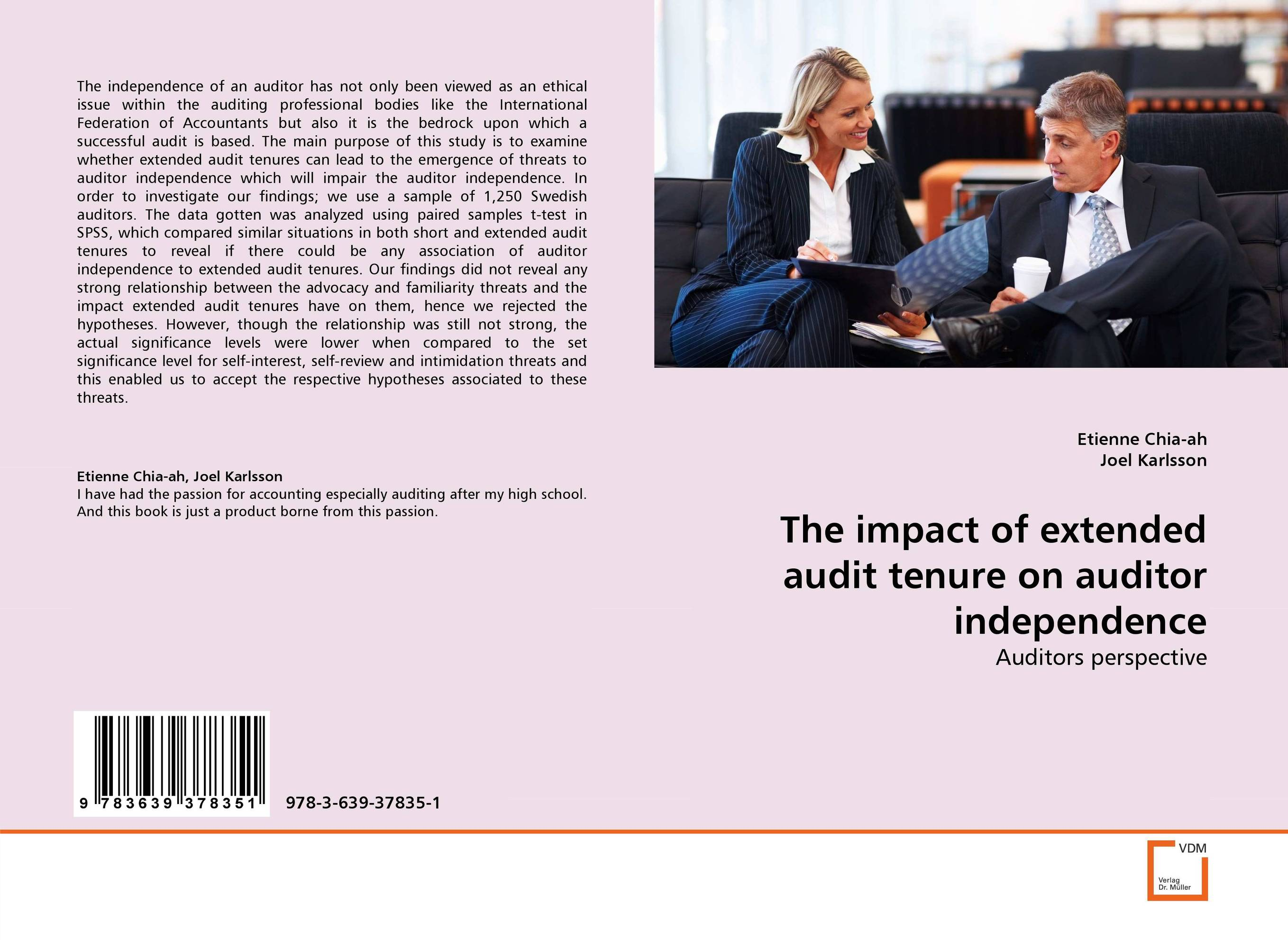 the threat to auditors independance and impartiality Often people confuse the organizational attribute of independence with the individual attribute of objectivity, which internal auditors are expected to maintain.